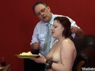 섹시한 페티쉬에 대한 음식의 굴욕과 잔인한 국내 규율