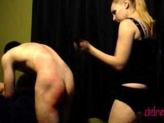 지배 : flogging, 스틱 \u0026 노예 스위치