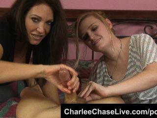 뜨거운 탬파 mille 찰리 체이스 손을 쓰다듬어 가져옵니다!