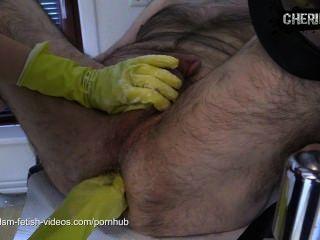cherie noir에 의해 haushaltshandschuhen에서 fisting하고있는 doppel
