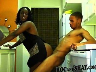 흑인 커플 하드 섹스