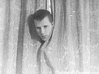 정통 빈티지 포르노 1950 년대 면도 한 음모, 도촬 엿
