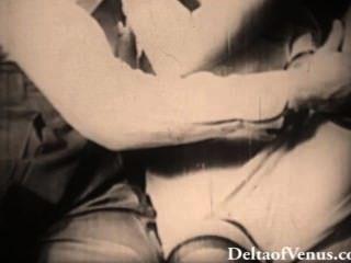 본격적인 골동품 포르노 1940 년대 블론디가 좆되다.