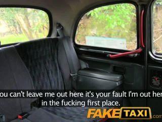 faketaxi 난 내 택시의 뒤쪽에 그녀의 엉덩이에 정액