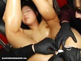 극한 일본 페티쉬와 속박 섹스