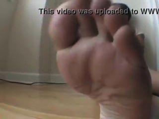 큰 흑인 남아프리카 흑인 주문 검은 발 숭배와 조이
