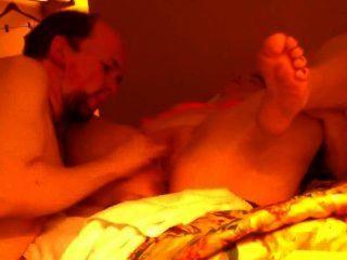 호텔 방에서 에스코트와 섹스