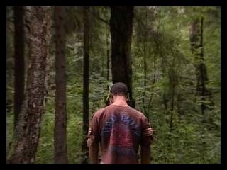 숲 속의 러시아 커플