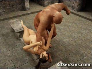 추악한 오우거 3D busty girls!