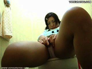 화장실 방 자위 뜨거운 아시아 소녀