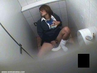 호색한 여자 교복 도촬 화장실 자위