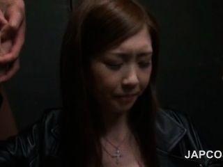 구두 흥분한 일본의 아름다움 두 흥분한 자지