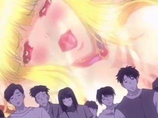 [falara ♥ hentai] 금발 머리 처녀가 괴물 갱 뱅이에서 침해 당한다.