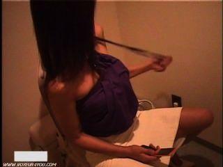 일본 여자 화장실 화장실 수음