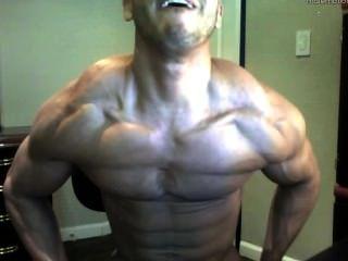 뜨거운 웹캠 소년 위대한 힘든 몸과 거대한 거시기