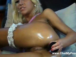웹캠 chatmypussy.com에 그녀의 새끼를 자위 금발