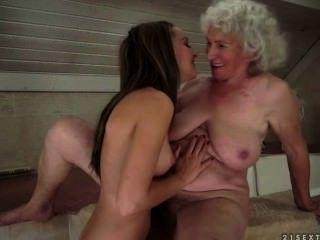 할머니와 십대 간의 레즈비언 섹스