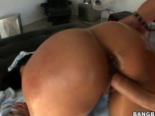 큰 갈색 엉덩이와 흰색 갈색 머리 베이비