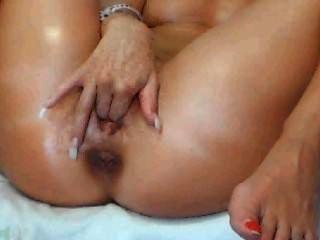 웹캠 소녀 손가락 그녀의 음부