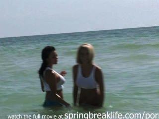 해변에있는 뜨거운 녀석들.