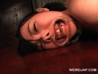 갈색 머리 십대 아시아 섹스 노예에 대한 하드 코어 엉덩이 딜도 라구 빌어 먹을