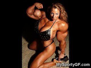 뜨거운 근육 여자 친구!