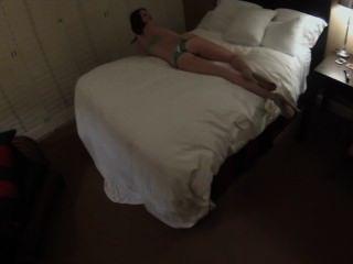 착취 한 대학 여자 sarah 잭 녹색 란제리 굉장한 엉덩이 csus