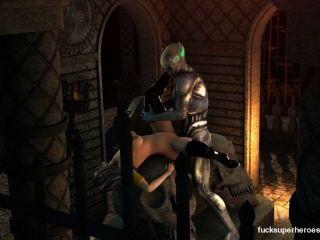 이 섹시한 지옥의 비디오에서 뱀파이어와 만나는 외계인, 꽉 짜낸 음부