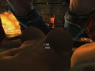 skyrim : 아스트리드와의 섹스 (남편에 대한 그녀의 충성도 테스트)