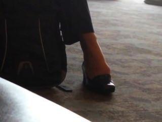 솔직한 비즈니스 레이디 shoeplay 피트 애틀란타 공항