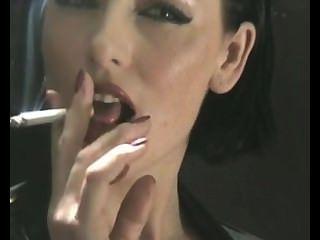 섹시한 라텍스 흡연