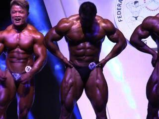 아시아 musclebulls : hkfbf 2014 (초대형) 포즈 다운 (90kg 미만)
