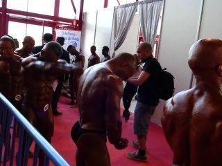 musclebulls : 70kg 미만의 아놀드 유럽 아마추어 2014 년 무대 뒤에서