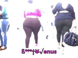 2 bbw 버블 엉덩이 호박 da 광장에 산책