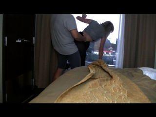 호텔 섹스!베이비가 창을 젖 힙니다.
