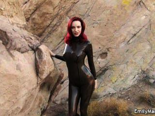 에밀리 마릴린 페티쉬 모델 라텍스 catsuit