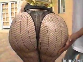 야외 섹시 스타킹에 대규모 지방 엉덩이 성숙 bbw