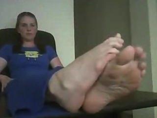 큰 섹시한 발