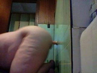 18 y / o 지방은 자신을 딜도 라구 딜도와 섹스하고 그것을 타기.