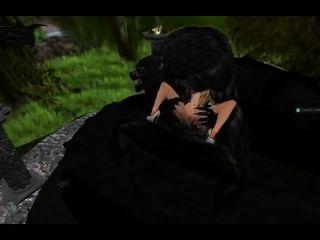 가난한 소녀보다 이중 침투 늑대 인간