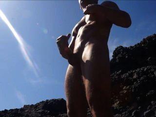 캠 : 바위에 경련과 cumming
