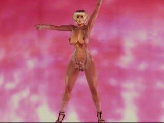 3d [망각] 후타 댄스 마스크