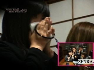 자막 미친 일본 장례식 원격 진동기 장난