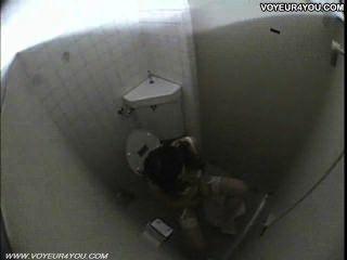 공중 화장실 여자 자위