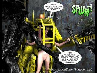 3d 만화 : spermaliens.에피소드 2