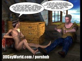 방 임대 3d 게이 애니메이션 만화 또는 대학 소년 처음으로 섹스