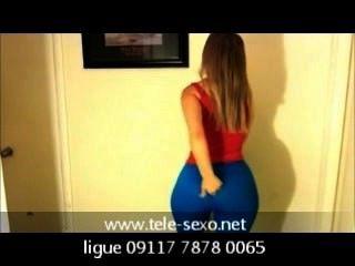 와우 뷰티 소녀 비디오 테서 비디오 파란색 레깅스 디스크 sexo.net 09117 7878
