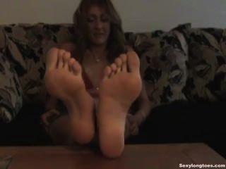 섹시한 큰 발 footfetish