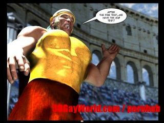게이 올림픽 재미있는 3D 게이 만화 애니메이션 만화 고대 xxx는 농담 3dgay