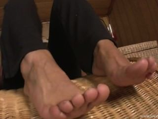냄새가 좋은 양말에 따뜻한 발